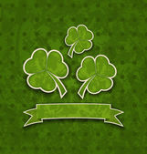 Holiday background with clovers for St. Patrick's Day — ストックベクタ