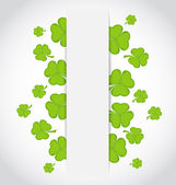 Greeting card with set shamrocks for St. Patrick's Day — Stock Vector