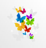 Abstract rainbow butterflies, colorful background  — Stockvektor