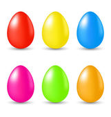 Easter set paschal eggs isolated on white background — Stock Vector