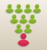 концепция совместной работы команды, значком «люди» — Cтоковый вектор
