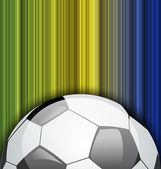 Background with soccer ball, Brazil 2014 football championship — Stock Vector