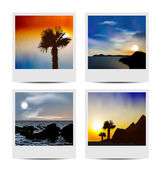 Set photo frames with beaches — Stock Vector