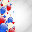 American background with colorful balloons for 4th of July — Stock Vector #47486347