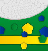 Abstract brazilian background with geometric figures — Vecteur