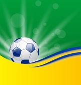 フラグの色はブラジルのフットボール カードします。 — ストックベクタ
