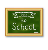 School blackboard with text, on white background — Stock Vector