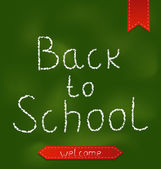 Back to school background with ribbons — Stockvektor