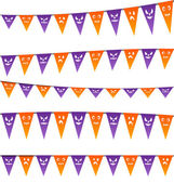 Halloween hanging streamers flags for your party — Stock Vector