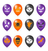 Colorful balloons for Halloween party — Stock Vector