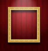Sztuka ramka na drewniane ściany — Wektor stockowy