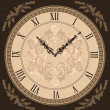 Close-up vintage clock with vignette arrows — Stock Vector #50263261
