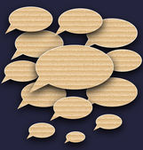 Set speech bubbles made in carton texture — Stock Vector