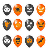 Colorful balloons for Halloween party — Vector de stock