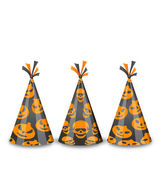Party hats for Halloween, isolated on white background — Vector de stock