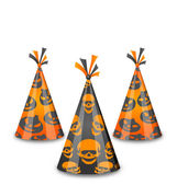 Halloween party hats isolated on white background — Vector de stock