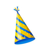 Birthday hat isolated on white background — Stock Vector