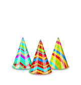 Colorful party hats for your holiday, isolated on white backgrou — Stockvektor