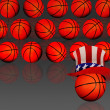 American Basketball. - Stock Photo