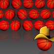 Stock Photo: Cowboy Basketballs.