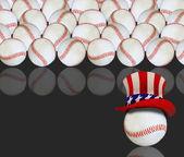 Amerikan beyzbol topları. — Stok fotoğraf