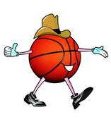 Cowboy Basketball Man. — 图库照片