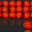 Stock Photo: Basketballs.
