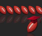 Footballs and Education. — Stock Photo