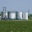 Royalty-Free Stock Photo: Oil Well Storage Tanks.