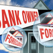 Bank Owned Foreclosure. - Stock Photo