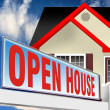 Open House. - Stock Photo