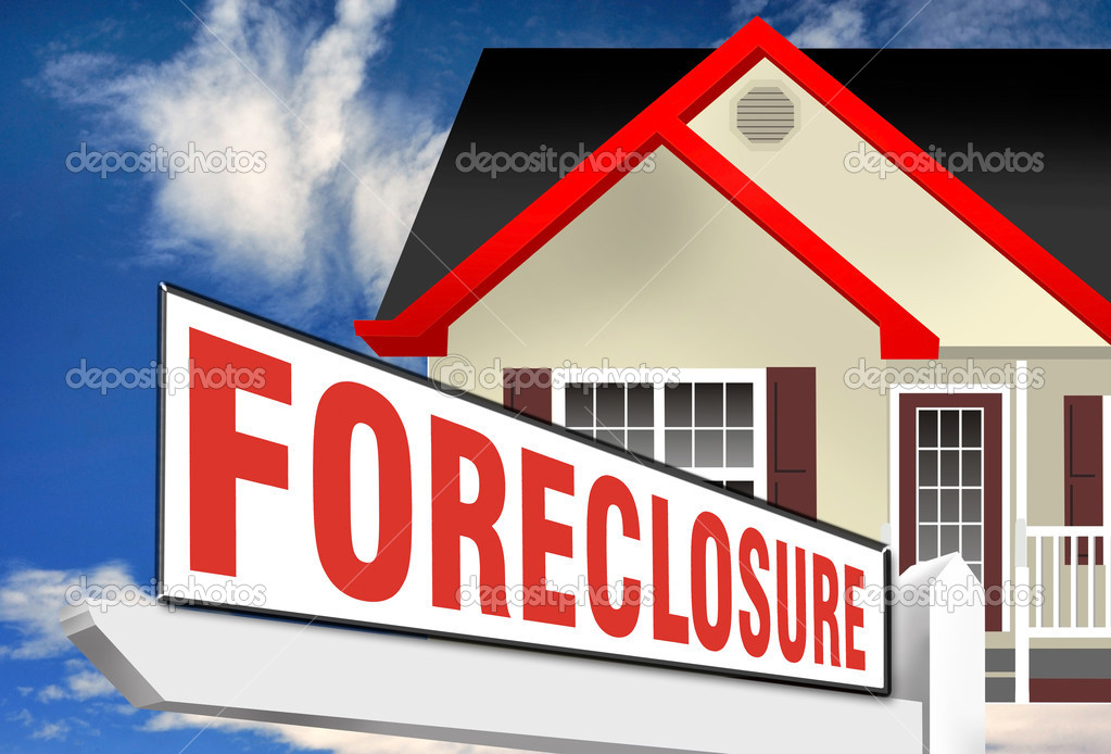 Foreclosure sign in front of home. — Stock Photo #12690551