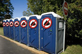 No Poop Outhouse. — Stock Photo