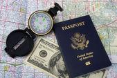Passport and Travel. — Stock Photo