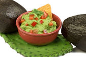 Guacamole. and Avocados. — Stock Photo