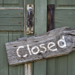 Stock Photo: Closed.