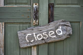 Closed. — Stock Photo