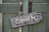 Come In. — Stock Photo