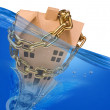 Foto Stock: Home under water.