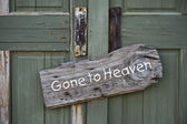 Gone to Heaven. — Stock Photo