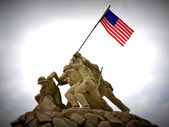 Statua di iwo jima. — Foto Stock