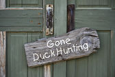 Gone Duck Hunting. — Stock Photo