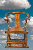 Antique Chinese Folding Chair. — Stock Photo
