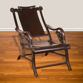 Antique Chinese Moon Viewing Chair. — Zdjęcie stockowe