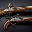 18th Century British Flintlock Pistols. — Stock Photo #39026683