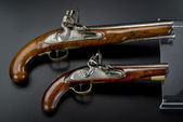 18th Century British Flintlock Pistols. — Stock Photo