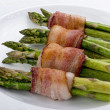 Asparagus Wraped in Bacon. — Stock Photo #41590003
