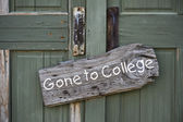 Gone to College. — Stock Photo