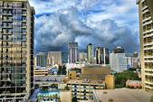 Waikiki,Hawaii Skyline. — Stock Photo