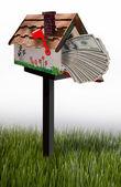Mailbox full of money. — Stock Photo